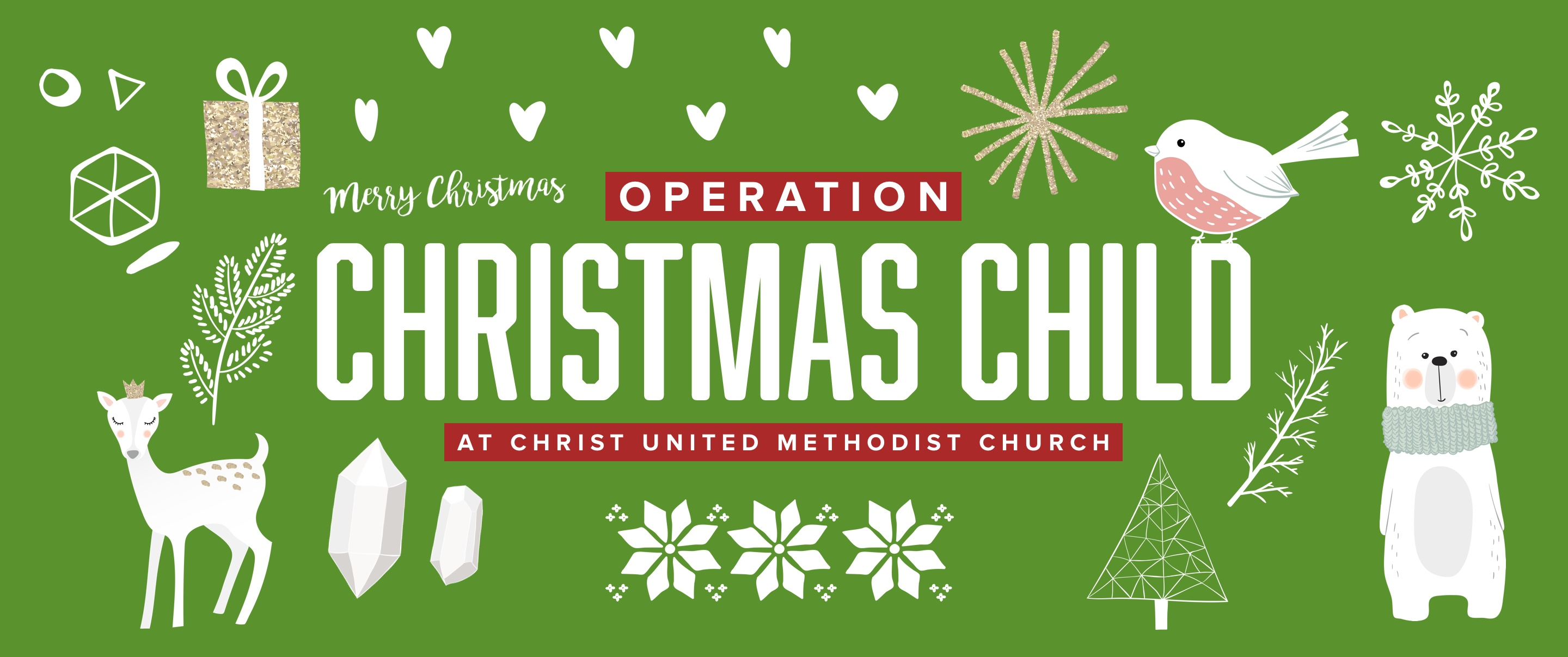 Operation Christmas Child at Christ United Methodist Church
